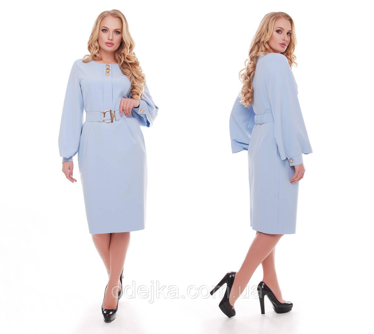 Елегантне плаття жіноче Катерина блакитного кольору
