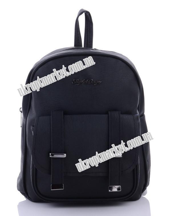 "Рюкзак женский 1006-3 black (27х30 черный) ""David Polo"" LG-1605"