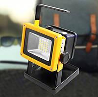Ліхтар-прожектор переносний акумуляторний Led Floodlight BL204 30W 2400LM Чорно-жовтий, фото 1