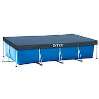 Тент для прямоугольного бассейна Intex 28037 400 х 200 см Синий