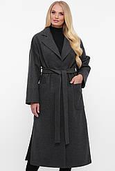 Пальто жіноче вільного стилю Олеся графіт