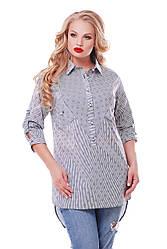 Рубашка женская Стиль морская 48 р