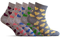 Носки женские разноцветные 10 пар Лана Lycra Сердечко, ассорти Размер 36-40
