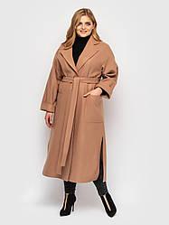 Пальто женское  свободного стиля Алеся беж