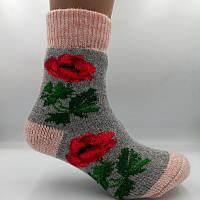 Шкарпетки жіночі вовняні в'язані Лео Квіти