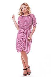 Платье-рубашка  женская Ассоль фуксия