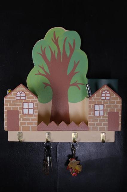 Ключниця настінна Два будинки (468)