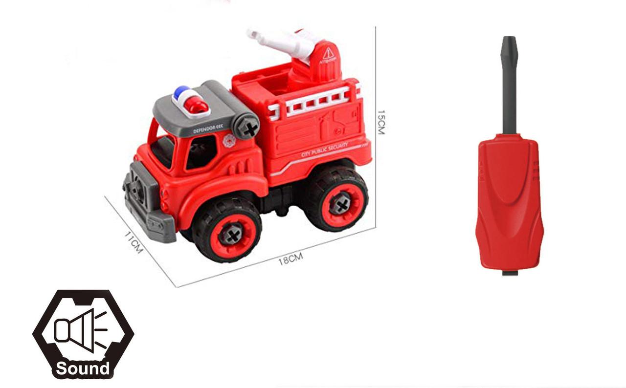 Автомобиль-конструктор пожарный LM8032-SZ-1