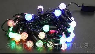 Гирлянда матовый шарик 80LED 7м (флеш) RGB (RD-7105), Провод-Черный, Цвет ламп-Микс