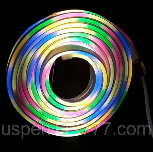 Гнучкий неон, гірлянда LED стрічка прогумована 10 метрів
