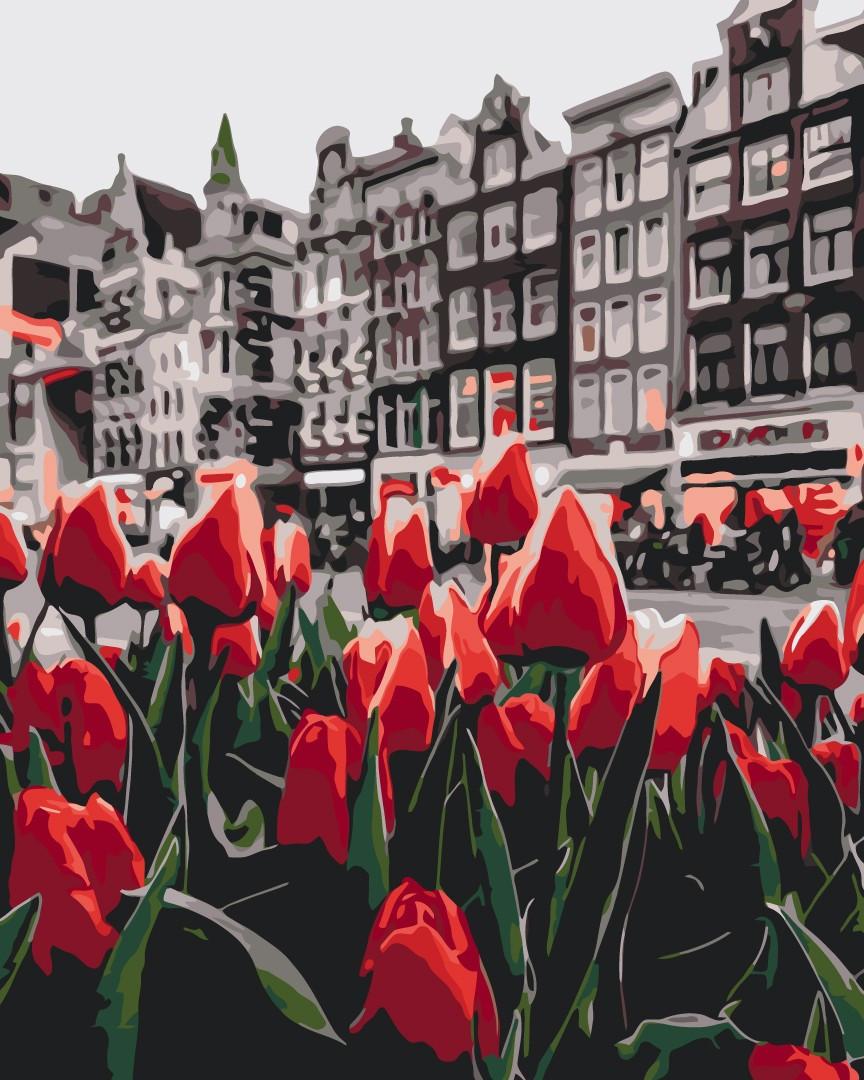 Картина по номерам Тюльпаны Амстердама ТМ Brushme  40 х 50 см GX34169