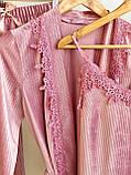 Женская пижама велюровая четверка, фото 2