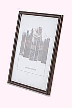 Фоторамка из пластика Коричневое дерево тёмное -  для грамот, дипломов, сертификатов, фото, вышивок!