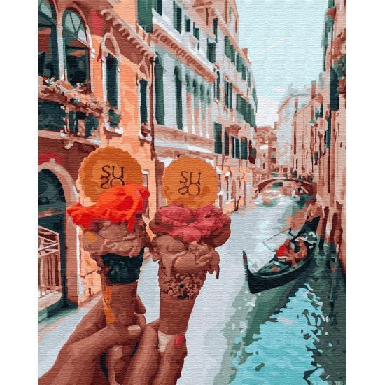 Картина по номерам Джелато в Венеции ТМ Brushme 40 х 50 см GX34170