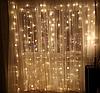 Гирлянда штора 192LED 3х2м RD-094 Теплый белый | Новогодняя светодиодная уличная гирлянда, фото 2