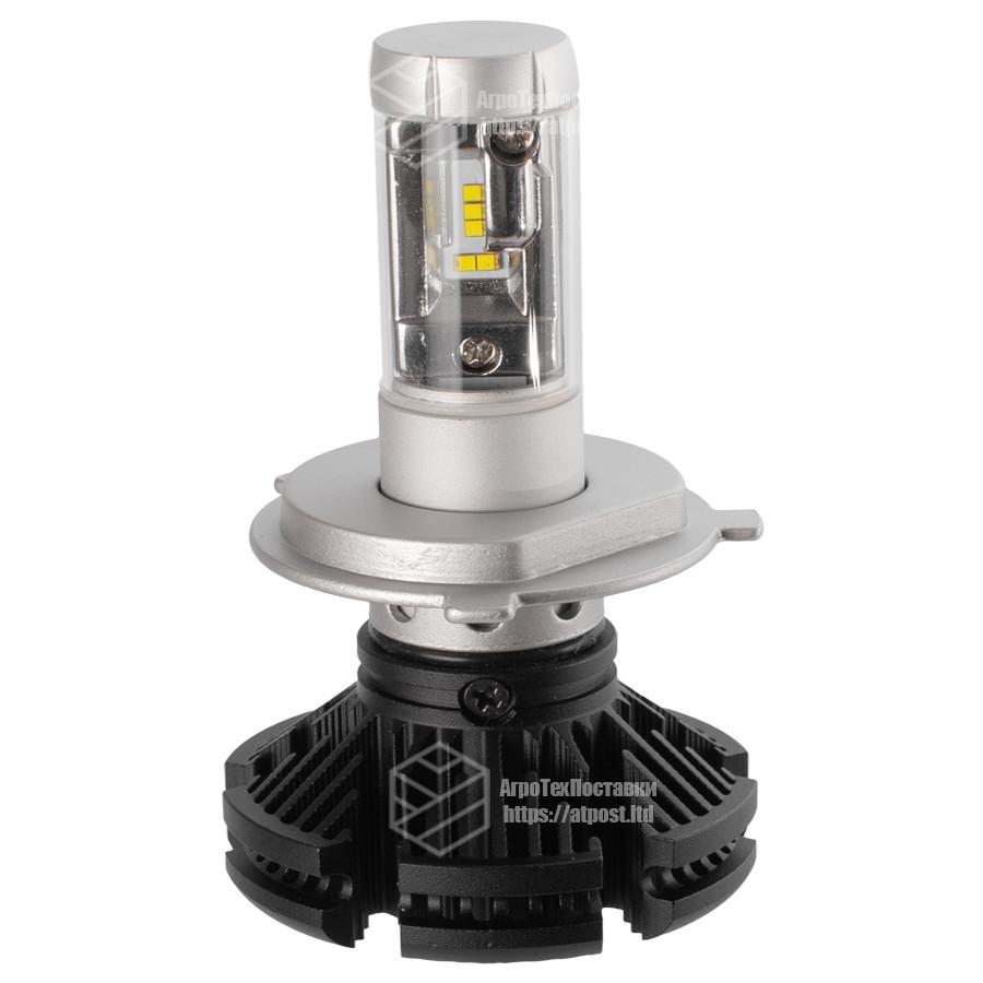 X3 Лампа светодиодная цоколь H1 (к-кт 2 шт) 12/24V, 50W, 4000Lm + вентилятор (авиац. алюмин.)