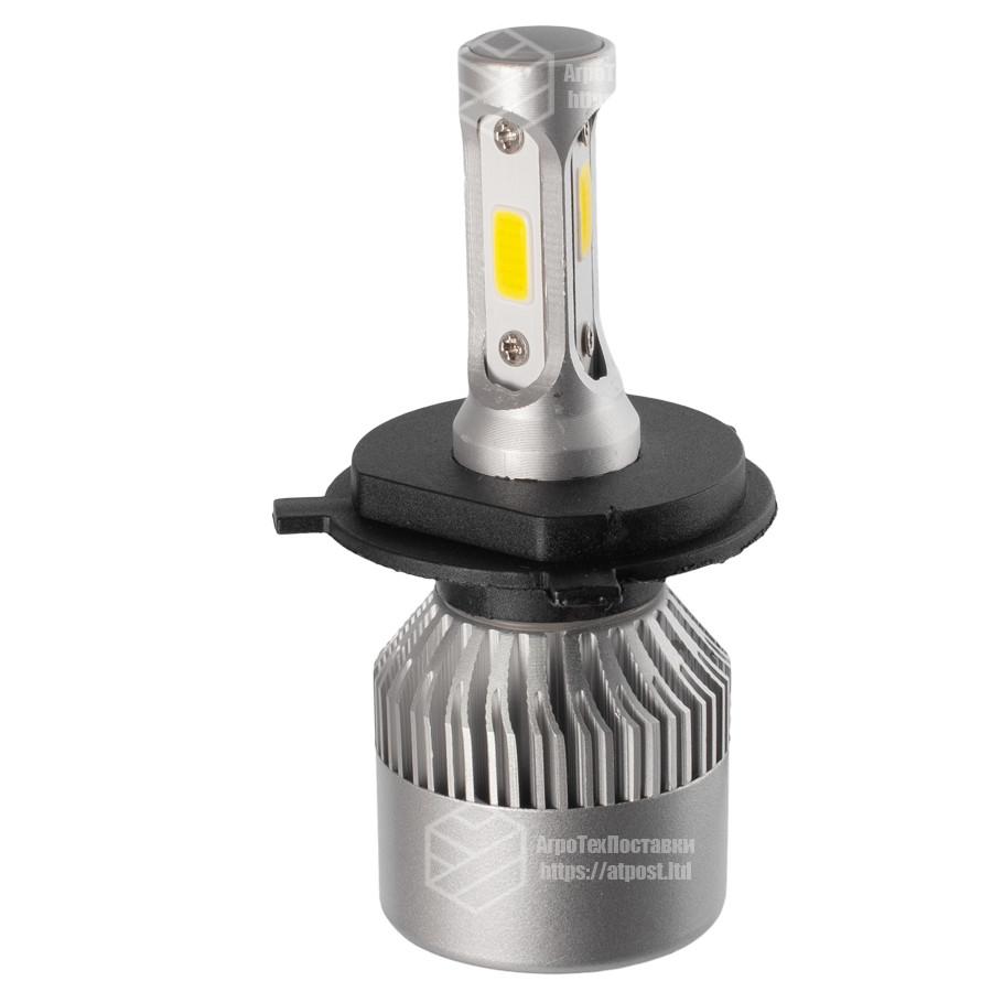 S2 Лампа светодиодная цоколь H1 (к-кт 2 шт) 12/24V, 36W, 4000Lm + вентилятор (авиац. алюмин.)