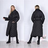 Женская однотонная длинная зимняя  куртка-одеяло. Цвета!, фото 1