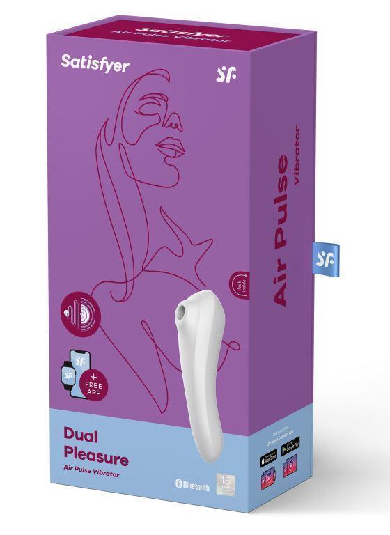 Вакуумный вибратор клиторальный Satisfyer Dual Pleasure White, белый