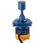 GT7 Лампа светодиодная цоколь H3 blue (к-кт 2 шт) 12/24V, 60W, 4800Lm + вентилятор (авиац. алюмин.), фото 3