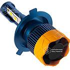 GT7 Лампа светодиодная цоколь H3 blue (к-кт 2 шт) 12/24V, 60W, 4800Lm + вентилятор (авиац. алюмин.), фото 4