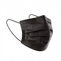 Черная защитная маска   Медицинская черная маска 3 слоя ТУРЦИЯ