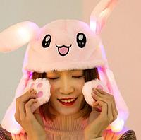 Шапка заяц со светящимися двигающимися ушками