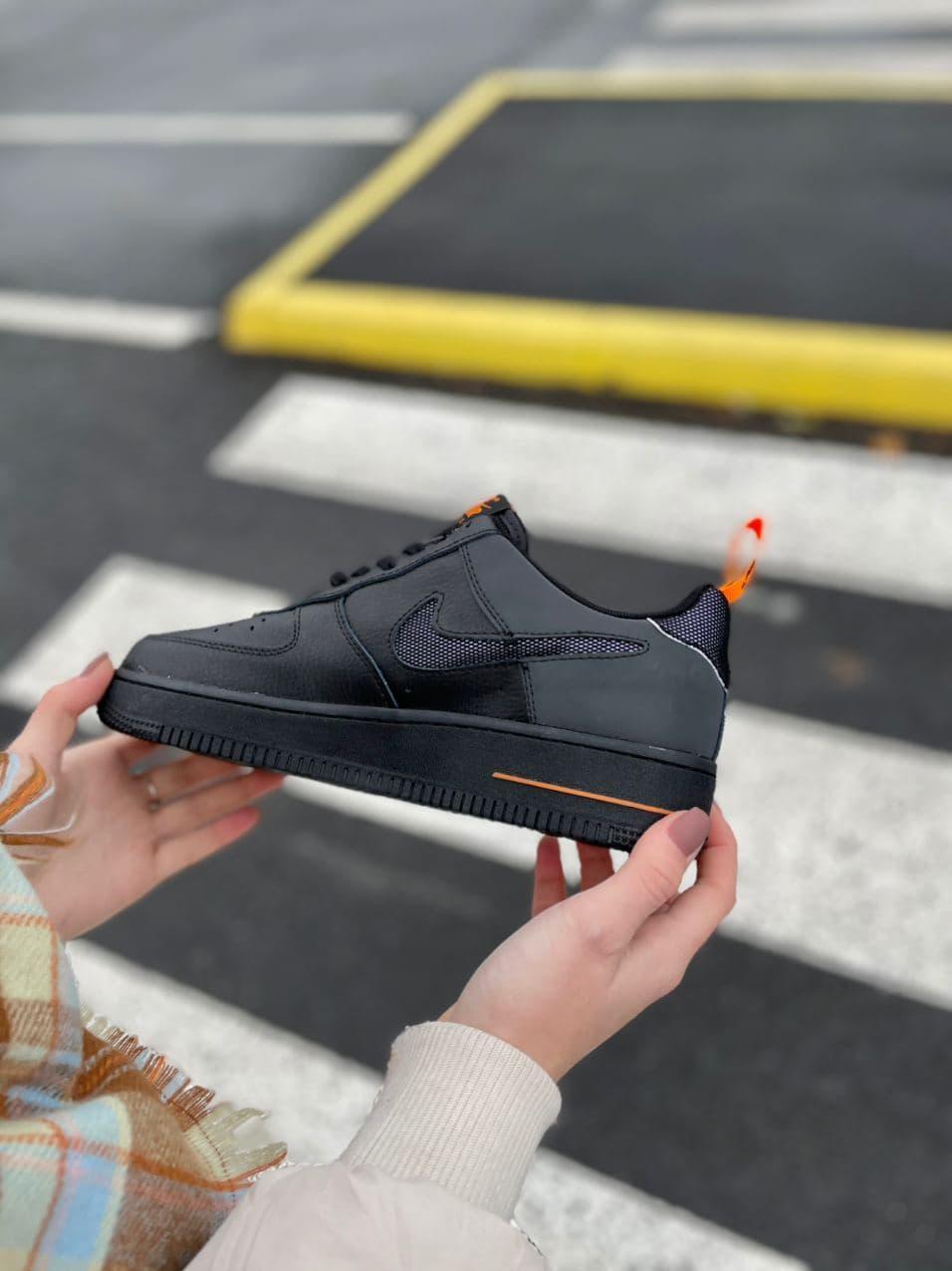 Мужские черные кроссовки в стиле Nike  деми 41-45