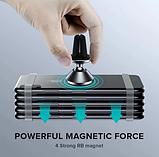 Магнитный держатель с поворотным шарниром GETIHU в авто в решётку дефлектора, фото 4