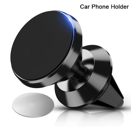 Магнитный держатель с поворотным шарниром GETIHU в авто в решётку дефлектора
