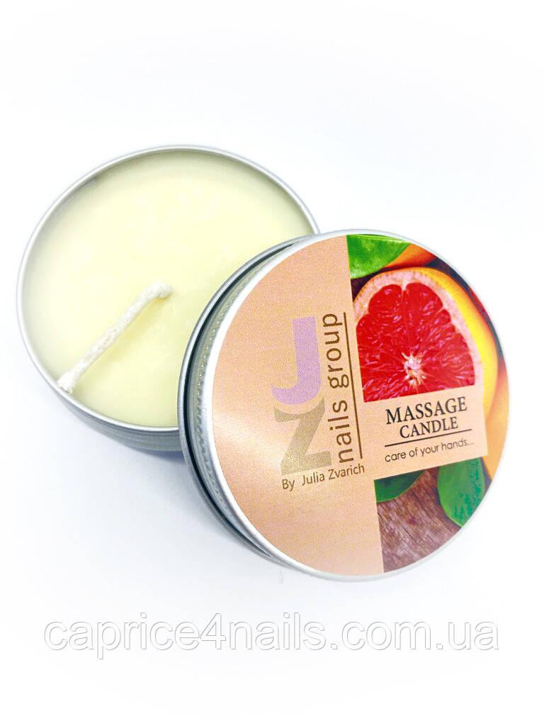 Свеча массажная с ароматом какао масла и грейпфрута, JZ, 40 гр