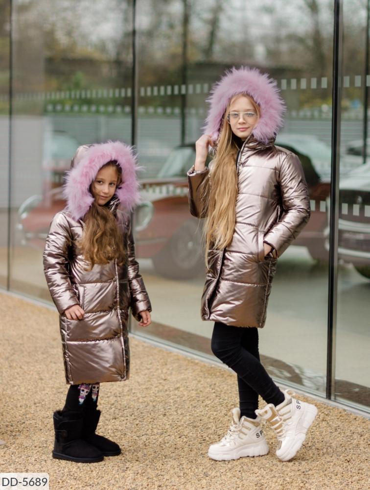 Куртка зимняя ( пальто) для девочек в расцветках (16-8968)