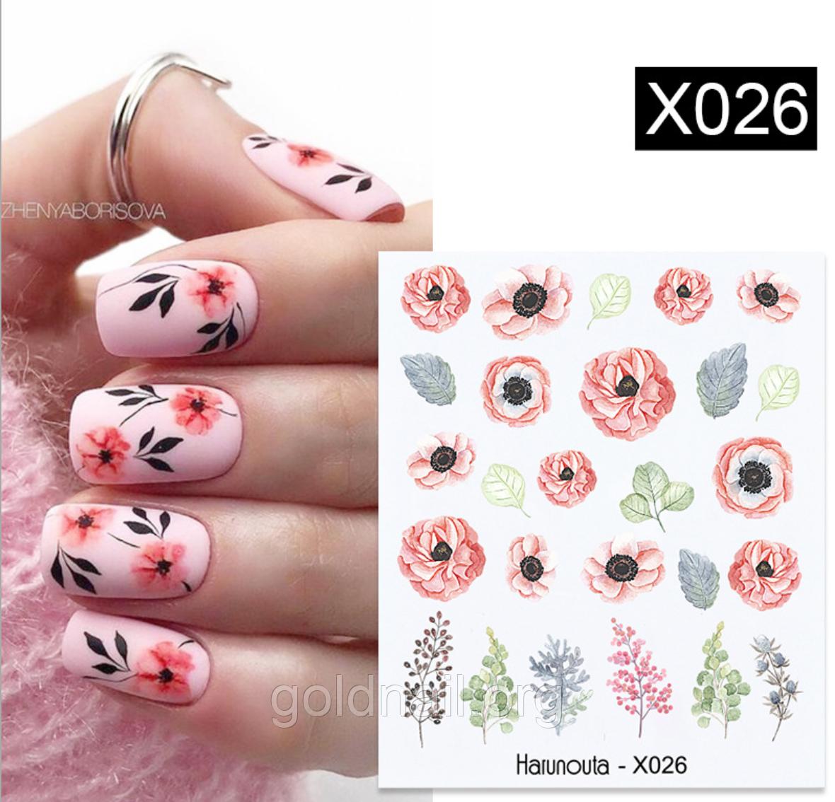 Слайдер водний для дизайну нігтів Harunouta-X026