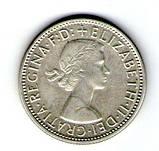 Австралия 1 флорин 1956 серебро №153, фото 2
