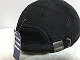 Бейсболка утеплённая из стёганной плащёвки серая,чёрная,синяя 56-58-60, фото 10