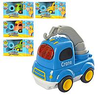 Машина 29115-16-18-19-20 (48шт) от8см, муз, світло, рез.колеса, 5 вид, бат (табл), в кор-ке, 15,5-11-11см