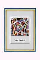 Фоторамка из пластика Жовто-блакитна  -  для грамот, дипломов, сертификатов, фото, вышивок!, фото 1