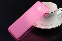 Чехол силиконовый TPU матовый Meizu MX5 розовый