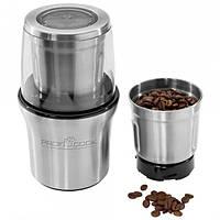 Кофемолка PROFICOOK PC-KSW 1021, измельчитель кофейных зерен   кавомолка, змелювач кави (Гарантия 12 мес)