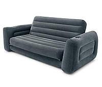 Надувной раскладной диван трансформер Intex 66552 (203х224х66 см) флокированное покрытие (Гарантия 12 мес)