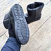 Кожаные угги UGG мужские черные со змейкой высокие эко кожа зимние ботинки валенки теплые, фото 4