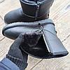 Кожаные угги UGG мужские черные со змейкой высокие эко кожа зимние ботинки валенки теплые, фото 3