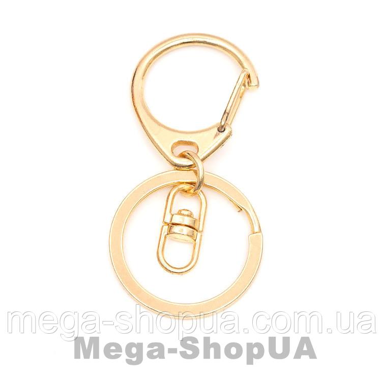 Кольцо с карабином для ключей 1 штука. Брелок для ключів Golden