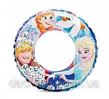 """Надувной круг для плавания Intex """"Фроузен"""", диаметром 51 см, от 3 до 6 лет"""