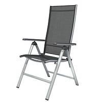 Стул складной со спинкой и подлокотниками FloraBest HG04387A, раскладное кресло | стілець (Гарантия 12 мес)
