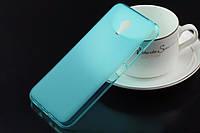 Чехол силиконовый TPU матовый Meizu MX5 бирюзовый