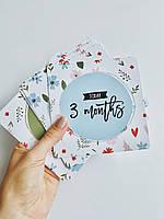 Фотокарточки, карточки для фото младенцев, карточки первый год жизни