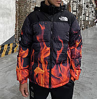 Пуховик зимний The North Face (TNF) Nuptse 700 x Supreme Fire (Огонь) - М, L, XL, XXL