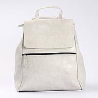 """Женский кожаный рюкзак-сумка(трансформер) светлого оттенка """"Жозефина White"""", фото 1"""