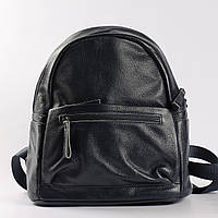 """Большой рюкзак из натуральной кожи черного цвета """"Агрус 2 Blue"""", фото 1"""
